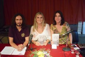 Foto da presentación do libro en Bos Aires  ( 9-4-2015) . Con Ana Paula Mejuto, Olivia Tudela e Ruy Farías.