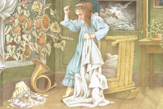 Ilustración de M. Sendak. Cortesía de Kalandraka Editora.