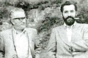 Manuel María, á dereita, con Celso Emilio Ferreiro.
